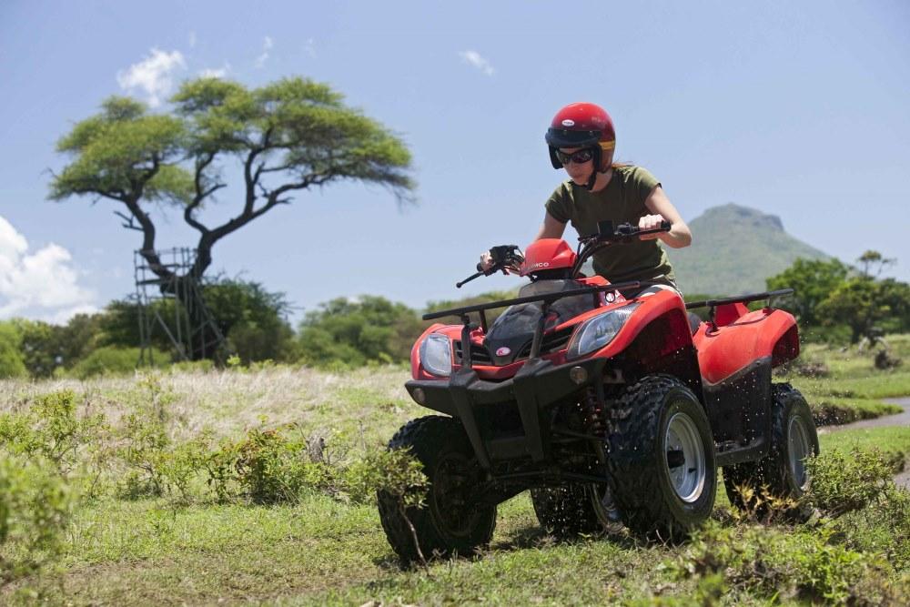 Quad tour in Mauritius