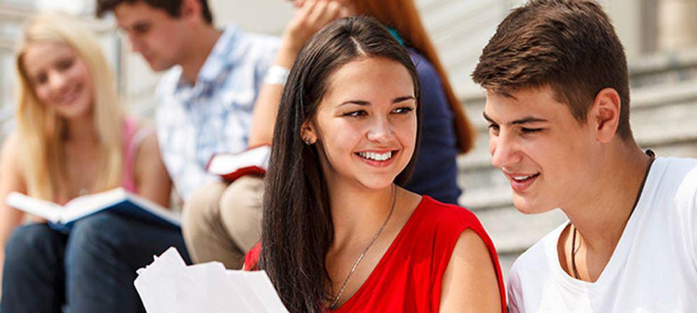Student lernen eine Sprache in Mauritius